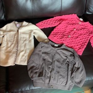Baby Girl Cardigan Sweater Lot 12-18 Months